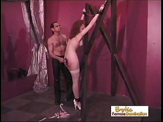 Dungeon Master Shows No Mercy To The Slave