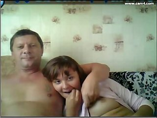 Dad and daughter watching tv i do this with my dad too