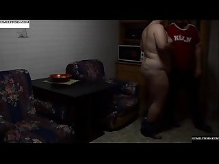 While the grandmother goes to church they fuck in her home. JAV271