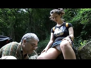 Walk in the wood:daddy screw me
