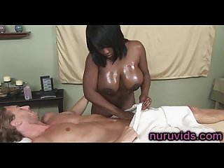 Busty ebony jada fire gives awesome cock massage