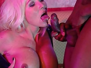 Beautiful blonde anal queen takes big black cock Dp S Helen duval