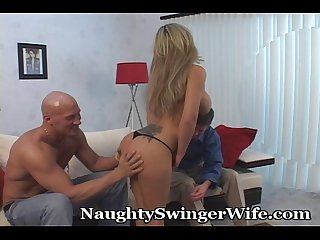 Twice as nice for horny wife