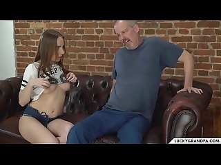 Grandpa fucks the masseuse