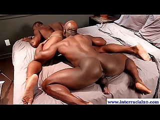 Horny dudes gets ready for big black cock in his ass