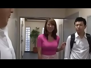 Busty japanese wife and young boys