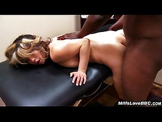 Big black dick fucks and facializes and Asian Milf