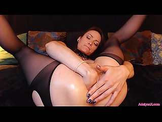 AdalynnX - Fisted Panties With Fingers Ass Deep