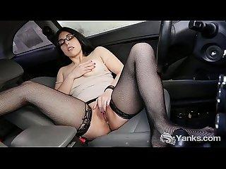 Brunette babe from yanks catalina rene masturbates