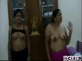 Indian mom joins daughter in threesome