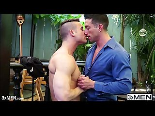 Muscular casey more bends killian over and shoves his dick up