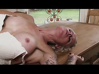 HITZEFREI Hot blonde MILF fucked on the kitchen table