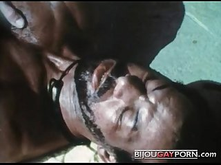 Scene from the First Gay Black Feature, MR. FOOTLONG\'S ENCOUNTER (1973)