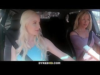 Blonde Big Tits MILF Serene Siren Lesbian Sex In Car With Teen Daughters h. Best Friend