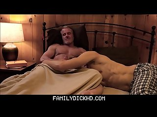 Hot Twink Boy Grandson With Athletic Body Sex With Grandpa In His Bed