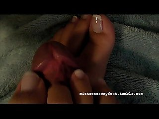 Mistress sexy feet french nails footjob