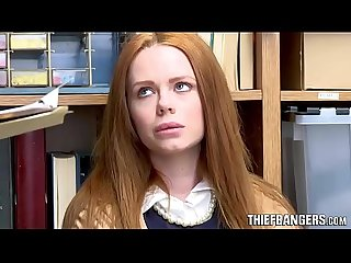 British redhead teen thief ella hughes caught punished