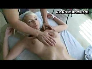 Hot blonde massage sex