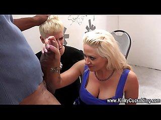 Cuckolding wife sucks