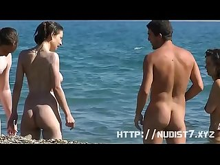 Quality voyeur video of a nudist girl spreading her thighs