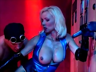 Beautiful blonde in latex fucked hard and sucks big cock Helen duval