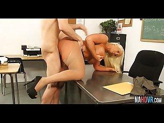 Busty blonde teaching a naughty lesson alura tnt jenson