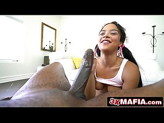 Tight Teen Maya Bijou Begs For Her Neighbour's Big Black Anaconda