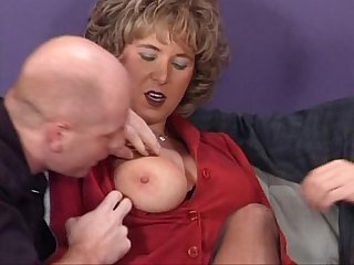 German houswife enjoying 2 hard cocks