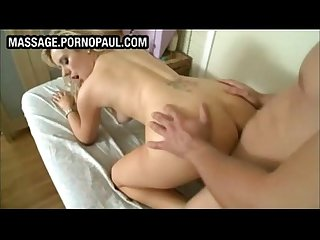 Blond bends over for dick