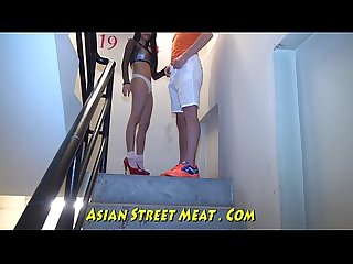 Dancing Asian Jap Lead On Leash