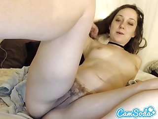 Teen latina massages her asshole and fingers her pussy on cam