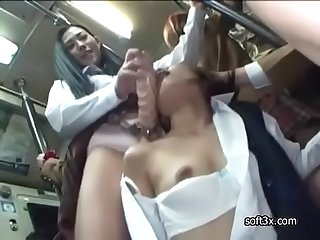 Girl student molester girl student on Bus -02