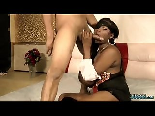 Sexy Ebony with Enormous Titties screw partner