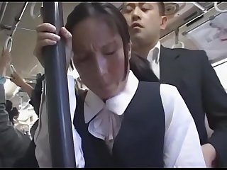 Asian japanese milf is groped on the bus pt2 on hdmilfcam com