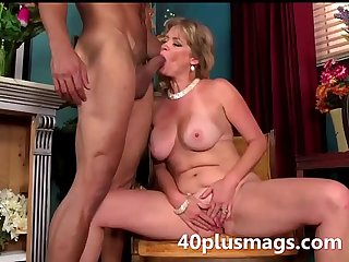 Blonde mature beauty ready to play