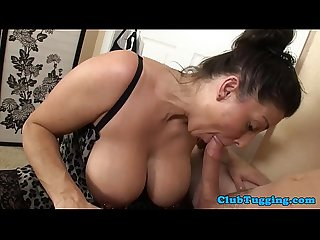 Bigtit mature sucking cock eagerly