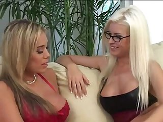 Horny blonde lesbian housewives