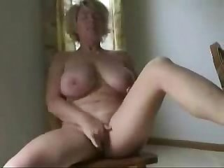 Cute busty granny fingering amateur older