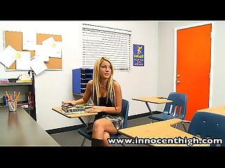 Innocenthigh bigtits blonde schoolgirl teen holly taylor fucks prof