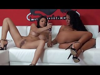 Italian pornstars Sofia cucci and martina gold jerking off live 7