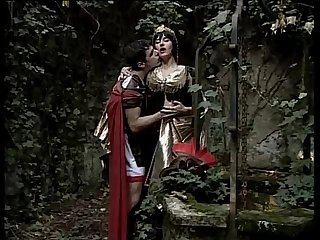 Ancient centurion fucking a courtesan in the wood
