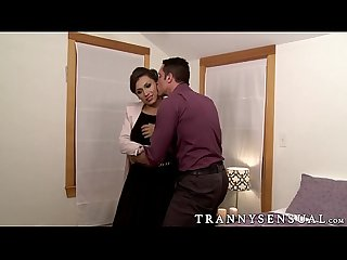 Hot busty tranny jessy dubai taking a cock from nick capra