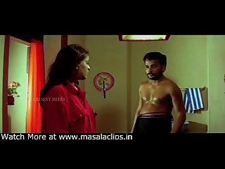 Cute old mallu actress boobs pressed in white bra