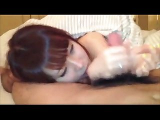 Japanese Horny GF Sucks Dick in Homemade porn Video