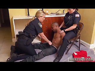 Sexy Milf and Teen fucking my police officer pawn shop Black male