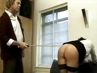 caning girl by her dad