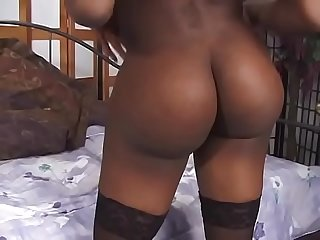 Naught shemale rides hard cock in her ass to cum on white boy in bed