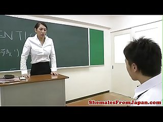 Ladyboy teacher assfucking her student