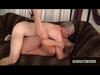 Blonde Granny Karen Summers Enthusiastically Sucks and Fucks a Thick Dick