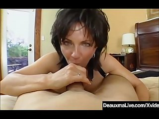 Big breasted cougar deauxma pussy squirts during anal Sex